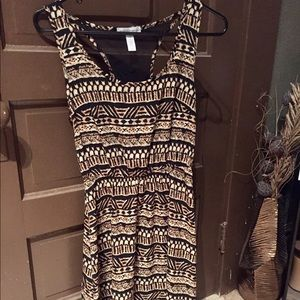 Printed high low dress,small